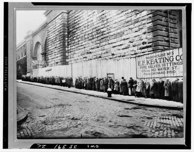 Bread Line in New York City