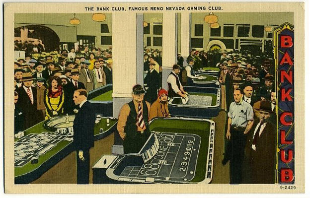 Bank Club Postcard