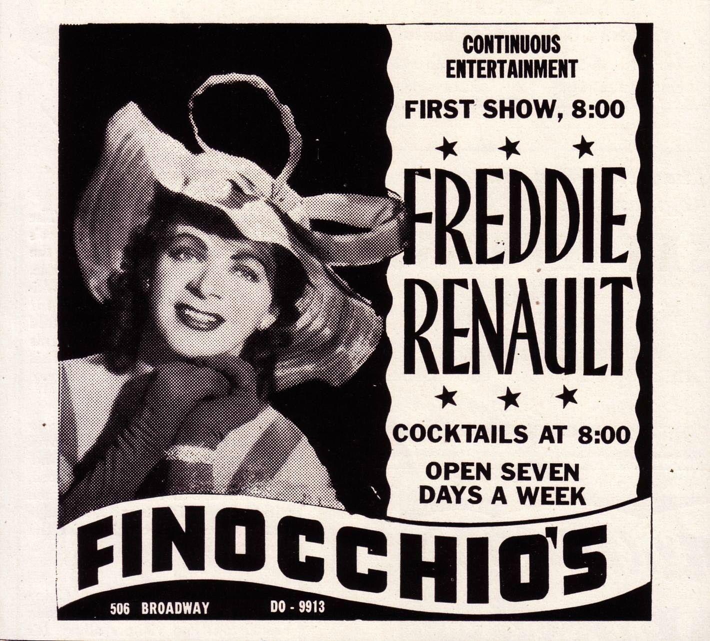 Finocchio's Ad