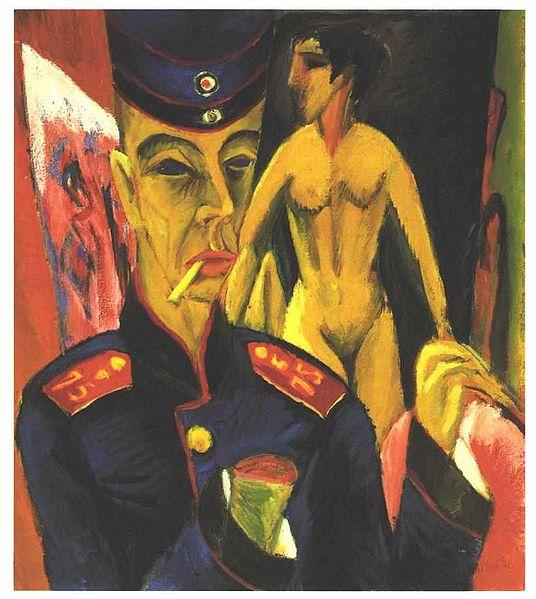 Self-Portrait as a Soldier (1915), Ernst Kirchner