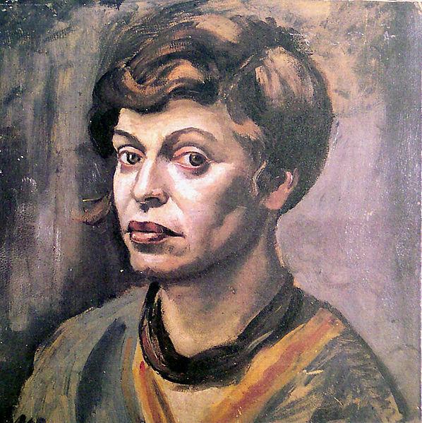 Self-portrait by Elfriede Lohse-Wächtler (1930)