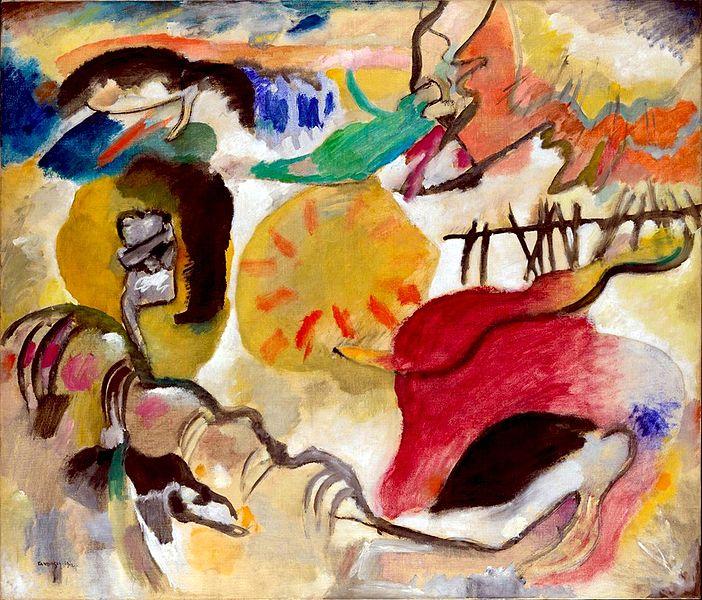 The Garden of Love (Improvisation 27) (1912), Wassily Kadinsky