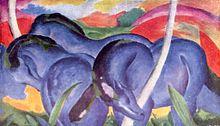 The Large Blue Horses (1911), Franz Marc