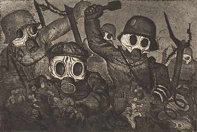 Stormtroops Advancing Under Gas (1924), Otto Dix