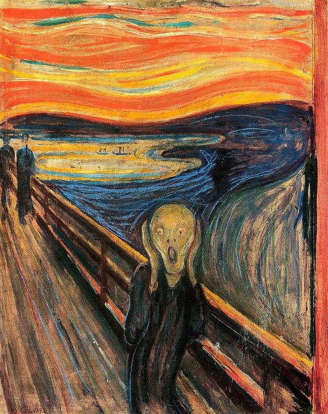 The Scream, (1893), Edvard Munch