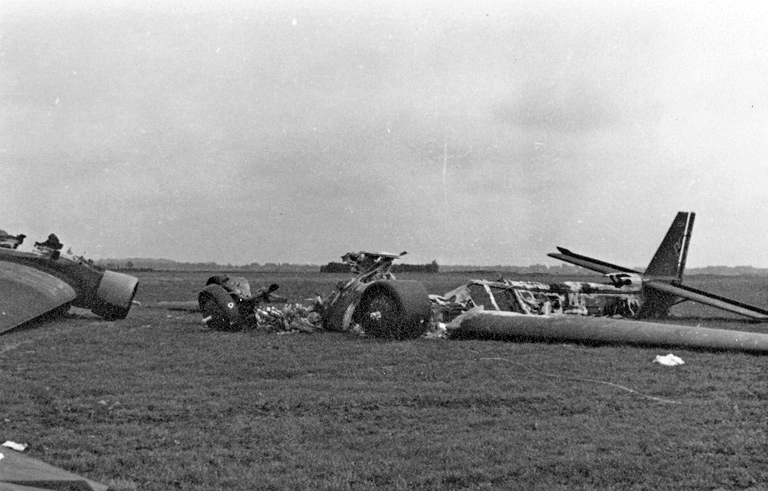 German Plane Destroyed