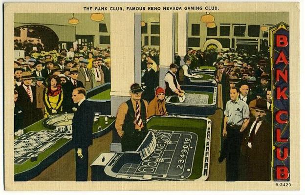 Bank Club Postcard