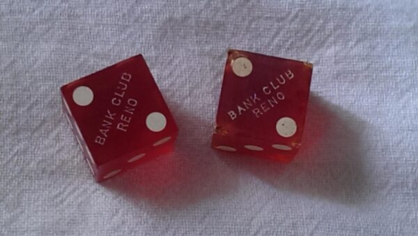 Dice from the Bank Club, Reno