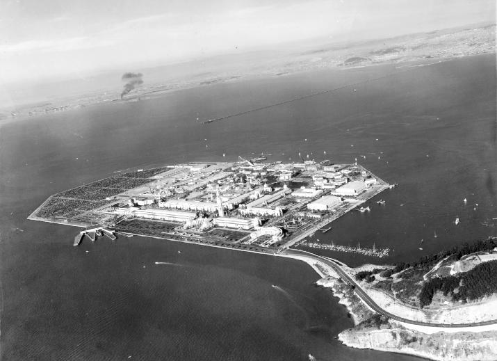 Ariel view of Treasure Island, c. 1939