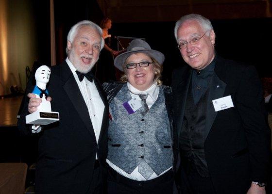2010 Edgars with winner Otto Penzler and Les Klinger