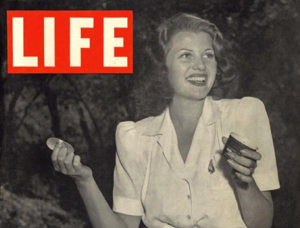 Rita Hayworth on the cover of Life Magazine