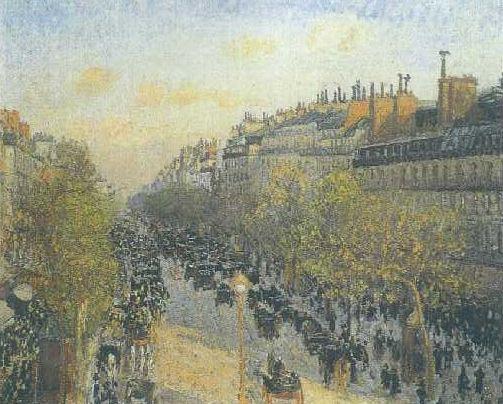 The Boulevard Monmatre at Twilight, Camille Pissaro