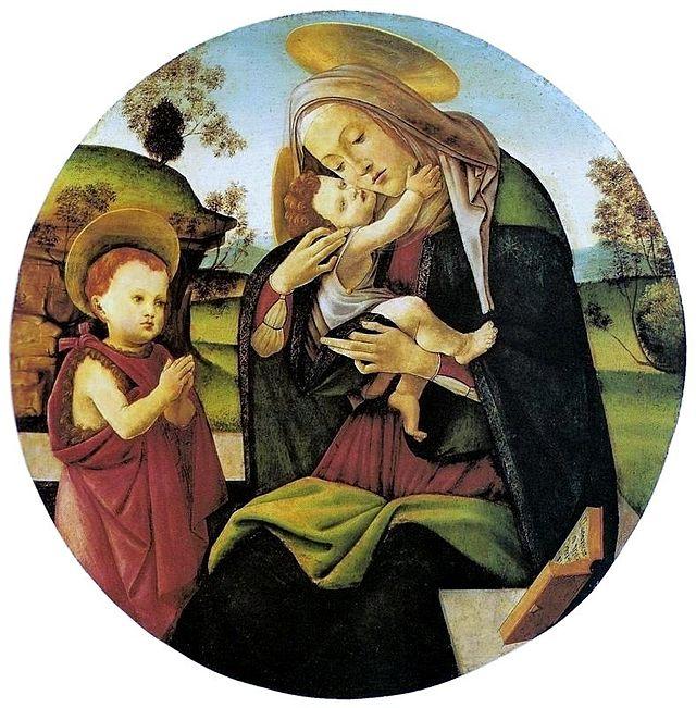 Virgin and Child with the Infant St. John the Baptist, Sandro Botticelli