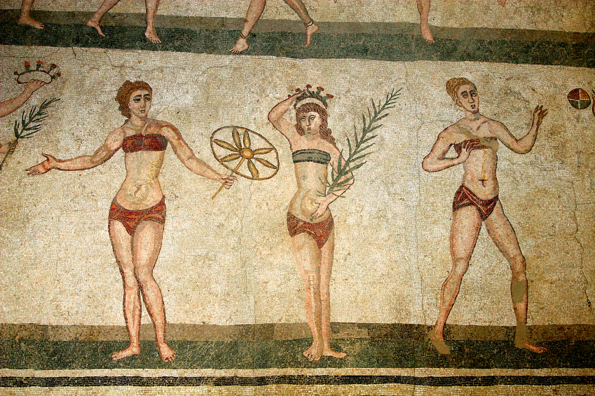 Female Athletes in Bikinis