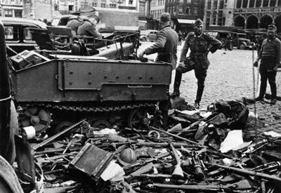 Nazis smash Belgium